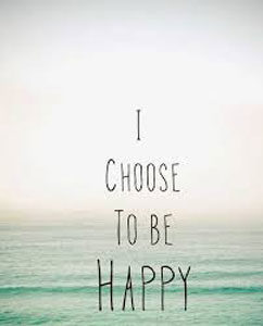 Image of a calm ocean tide with I choose to be happy lettering